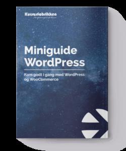 miniguide til WordPress