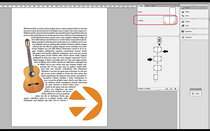 InDesign tekstbehandling