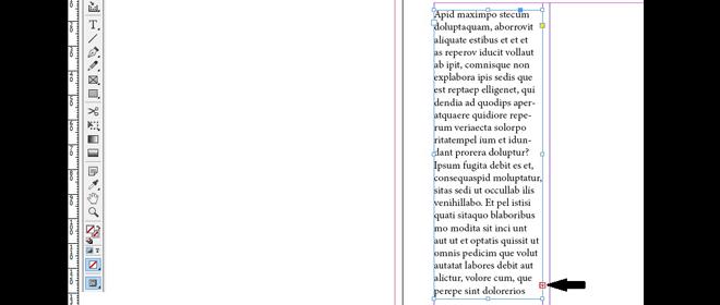 indesign tekstboks