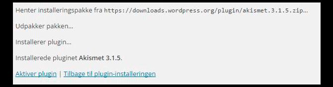 plugin installering