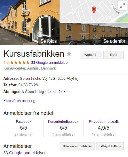 kursusfabrikken google+